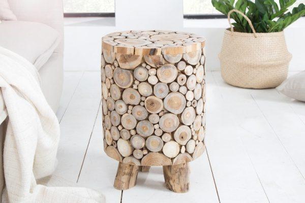 Taburet Mosaik 45 cm teakové drevo
