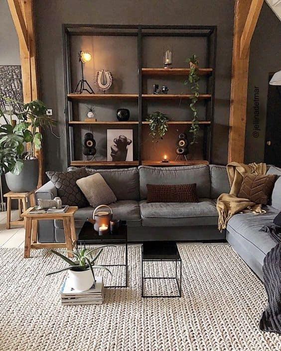 obývačka industriálny štýl