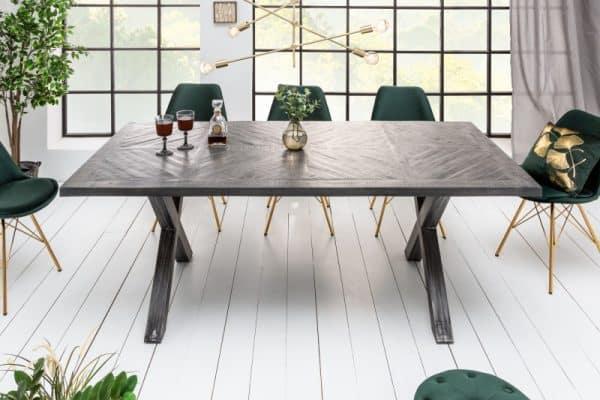 Sivý jedálenský stôl Infinity Home 160cm