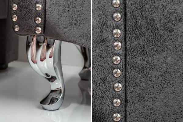 Sivý nočný stolík Extravagancia 45cm