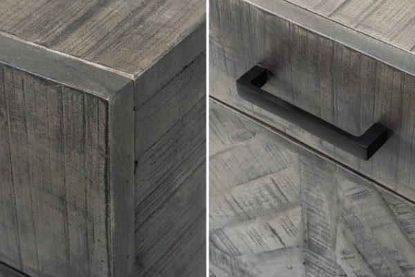 Sivý príborník Infinity Home 160cm