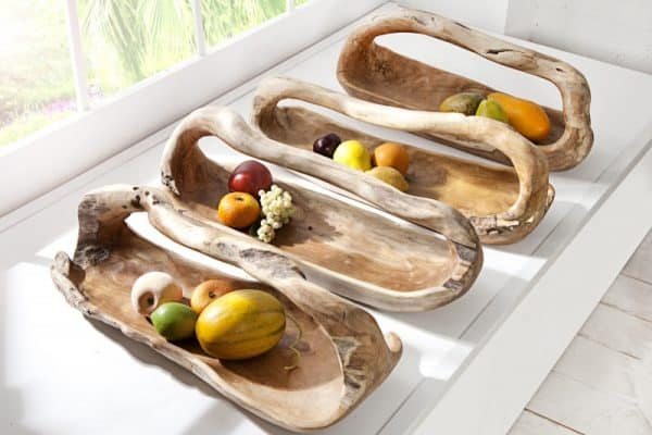 teakové drevo-Schale Bali / Griff