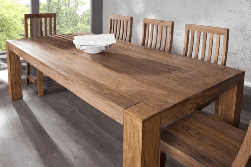 Drevený jedálenský stôl zvysoko kvalitného dreva sheesam