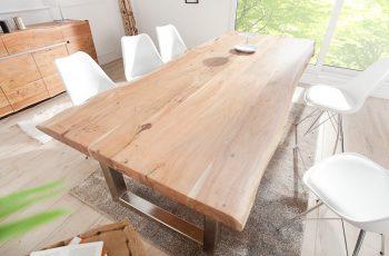 Jedálenský stôl Mammut 300cm agát 60mm ušľachtilá oceľ