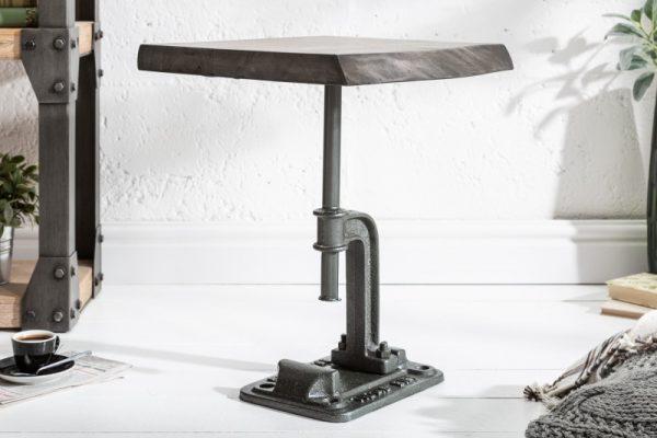 Konferenčný stolík Factory 43cm sivá agát