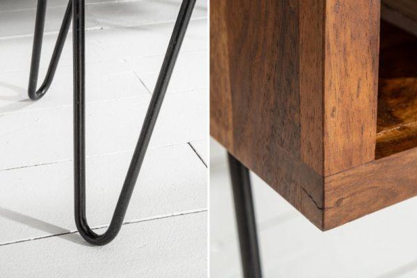 Konferenčný stolík Scorpion 100cm sheesham