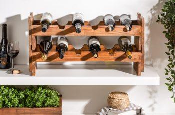 Regál na víno Hemingway 70cm set 2ks mahagón