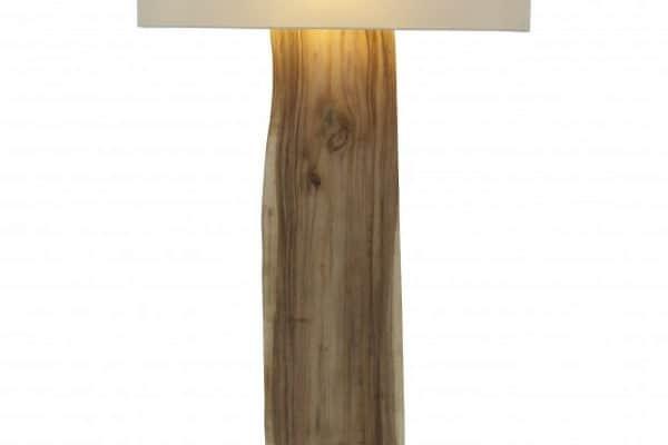 Stojanová lampa Organic Living béžová Walnuss