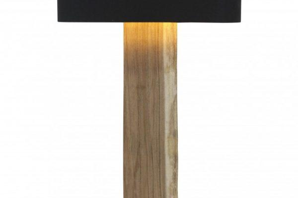 Stojanová lampa Organic Living čierna Walnuss