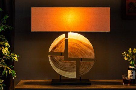 Stolová lampa Organic Living 80cm Walnuss