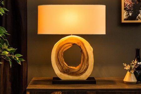 Stolová lampa OrganicArtwork 61cm Walnuss