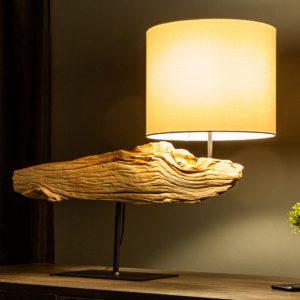 Stolová lampa OrganicArtwork 70cm železoholz