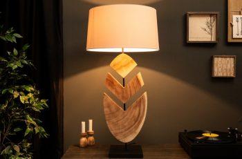 Stolová lampa OrganicArtwork 91cm Walnuss