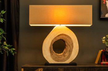 Stolová lampa OrganicArtwork 92cm Walnuss