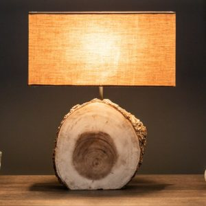Stolová lampa Pure Nature 46cm Walnuss