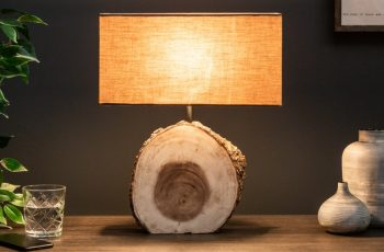 Stolová lampa Pure Nature 46cm Walnuss