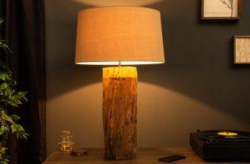 Stolová lampa PureNature 73cm zlatá železoholz