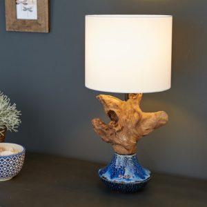 Stolová lampa Symbiose 50cm keramika železoholz