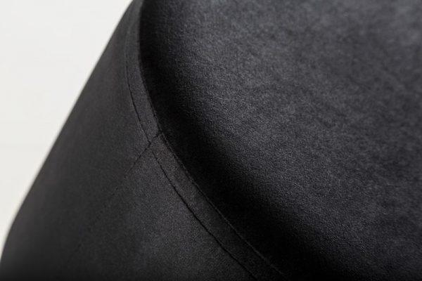 Taburet Modern Barock 55cm čierna strieborná