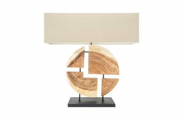 Béžová stolová lampa Organic Living 80cm