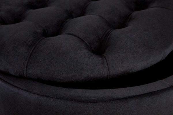 Čierny zamatový taburet Modern Barock 50cm »