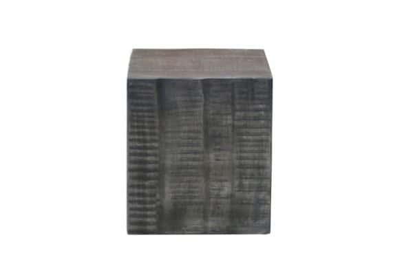 Sivý drevený taburet Factory 40cm