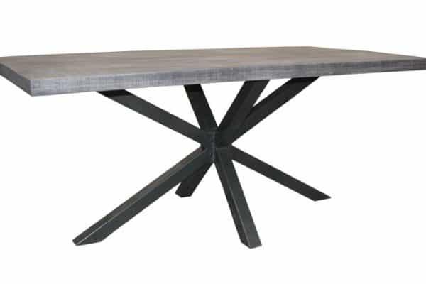 Sivý jedálenský stôl Galaxie 180cm