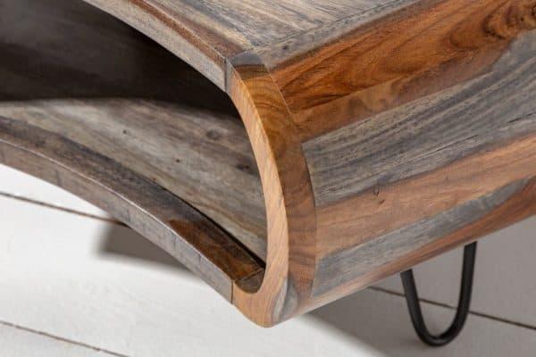 Sivý konferenčný stolík Organic Living 70cm