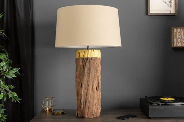 Zlatá stolová lampa PureNature 73cm