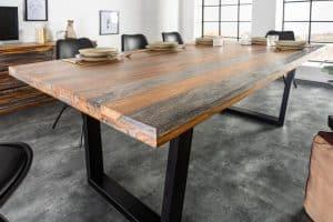 Jedálenský stôl Fire  Earth 160cm sheesham sivá
