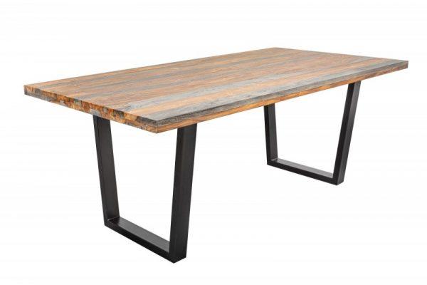 Jedálenský stôl Fire  Earth 200cm sheesham sivá