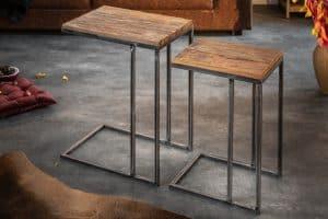 Konferenčný stolík Barracuda set 2ks teakové drevo