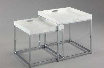 Konferenčný stolík Elements set 2ks biela stolík (podnos)