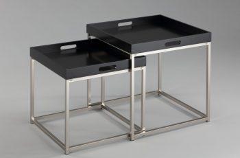 Konferenčný stolík Elements set 2ks čierna stolík (podnos)