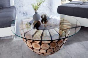 Konferenčný stolík Pure Nature 70cm teakové drevo Gestell- 37442-