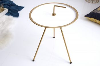 Konferenčný stolík SimplyClever 36cm bielazlatá