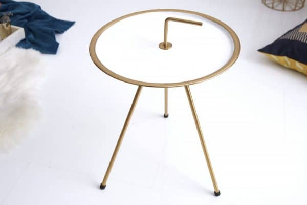 Konferenčný stolík SimplyClever 42cm bielazlatá