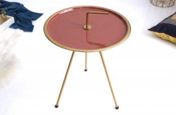 Konferenčný stolík SimplyClever 42cm korallezlatá