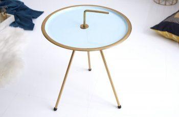 Konferenčný stolík SimplyClever 42cm tyrkysovázlatá