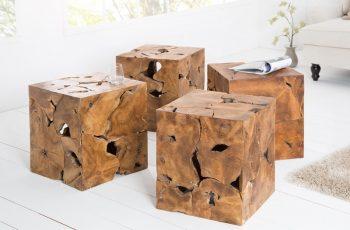 Konferenčný stolík Square 45cm - teakové drevo