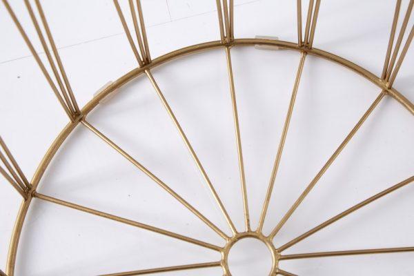 Konferenčný stolík Storage set 2ks biela zlatá