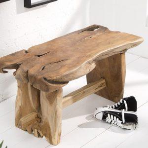 Lavica Nature Root 80cm teakové drevo