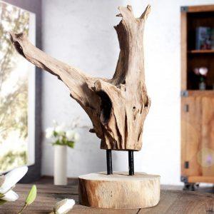 Ornament Flame 30-40cm teakové drevo