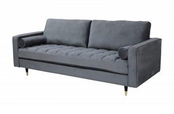Sofa Cozy Velvet 225cm sivá zamat