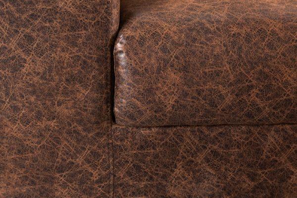 Sofa Lounger 219cm vintage hnedá