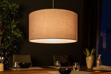 Závesná lampa Roots 50cm sivá