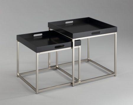 Čierny konferenčný stolík Elements set 2ks - podnos