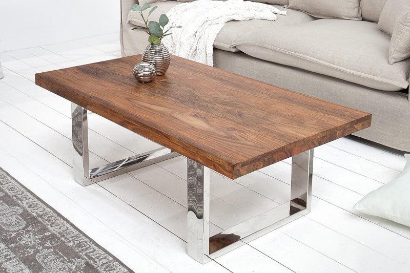 drevený konferenčný stolík Fire earth