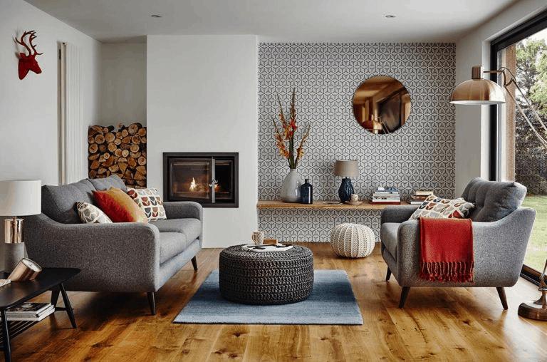 obývačka v jesenných farbách - inspiracia