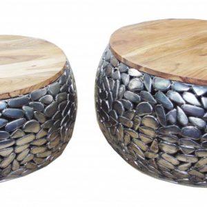 Konferenčný stolík Stone Mosaic set 2ks